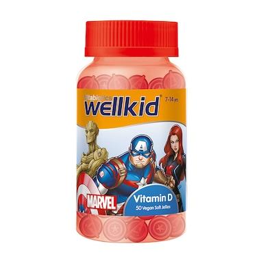 Vitabiotics Wellkid Marvel Vitamin D 7-14 years 50 Vegan Soft Jellies