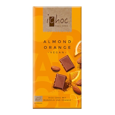Ichoc Almond Orange Rice Chocolate 80g