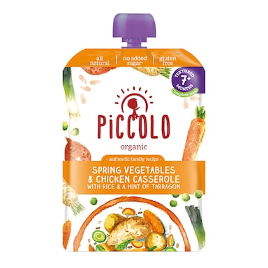 Piccolo Organic Spring Vegetable with Chicken 7m+ 130g