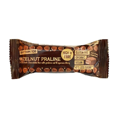 Rhythm 108 Swiss Chocolate Bar Hazelnut Praline 33g