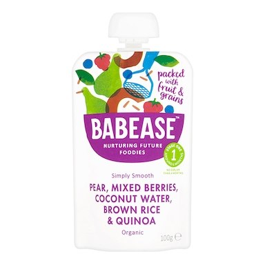 Babease Pear Mixed Berries & Coconut Water 100g