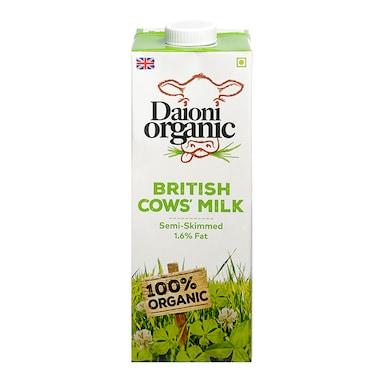 Daioni Semi Skimmed Organic British Milk 1Ltr