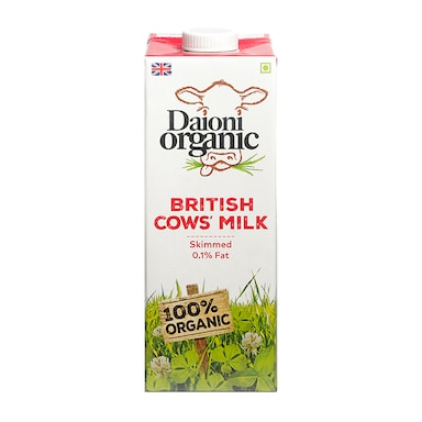 Daioni Skimmed Organic British Milk 1Ltr
