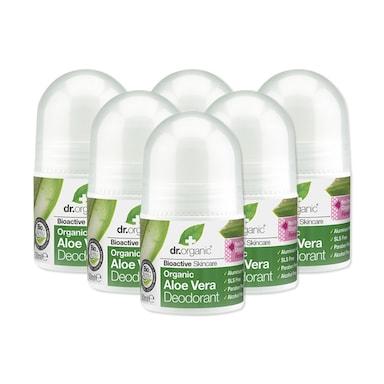 Dr Organic Aloe Vera Deodorant Bundle 6 x 50ml
