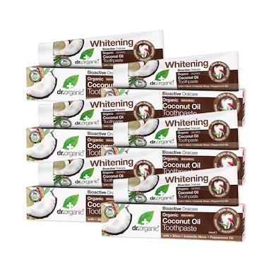 Dr Organic Coconut Oil Toothpaste Bundle 6 x 100ml