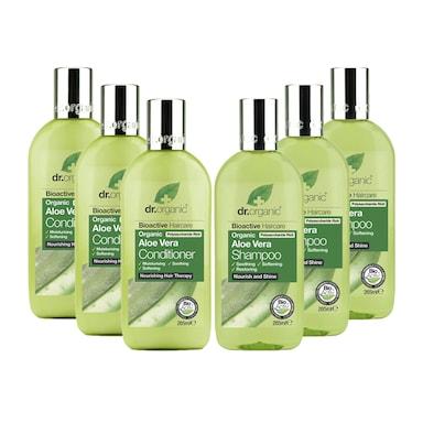 Dr Organic Aloe Vera Shampoo & Conditioner Bundle 6 x 265ml