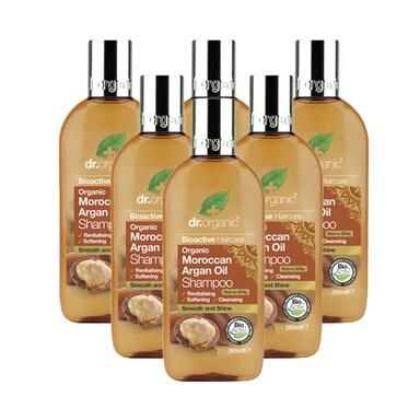 Dr Organic Moroccan Argan Oil Shampoo Bundle 6 x 265ml
