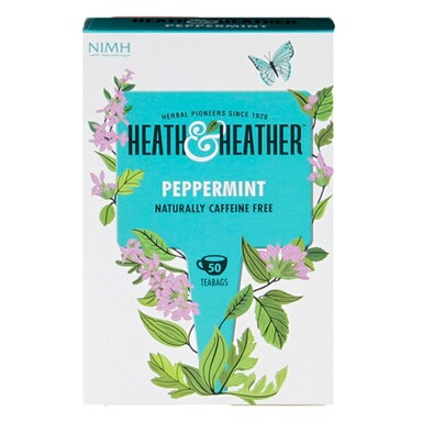 Heath & Heather Peppermint 50 Tea Bags