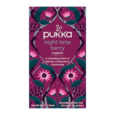 Pukka Night Time Berry Organic Herbal Tea 20 Sachets