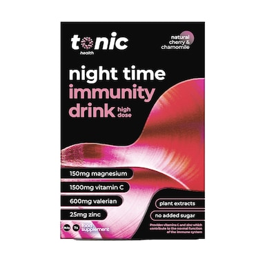Tonic Health High Dose Night Time Immunity Drink Cherry & Chamomile Flavour 7 Sachets