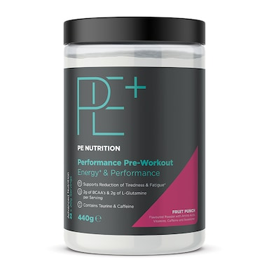 PE Nutrition Performance Pre-Workout Fruit Punch 440g