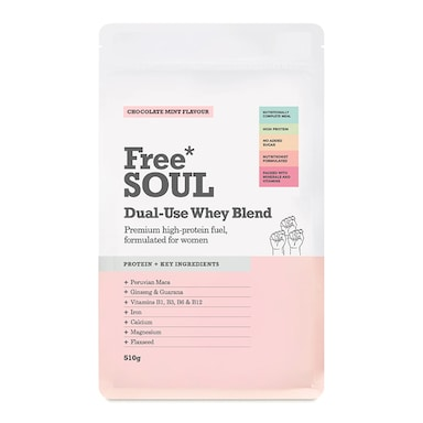 Free Soul Dual Use Blend Whey Chocolate Mint 510g