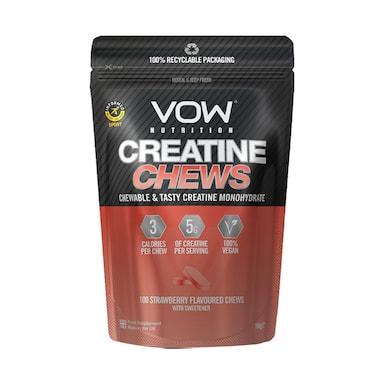 VOW Nutrition Creatine Chews Strawberry 100 Chews