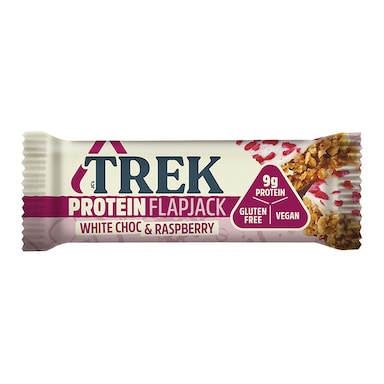 Trek White Chocolate & Raspberry Protein Flapjack 50g