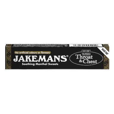 Jakemans Original Throat & Chest Soothing Menthol Sweets 41g Stick Pack