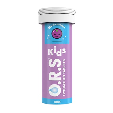 O.R.S Kids Hydration Blackcurrant Flavour Effervescent 12 Tablets