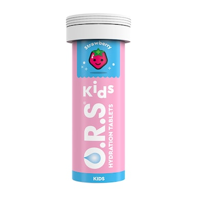 O.R.S Kids Hydration Strawberry Flavour 12 Effervescent Tablets