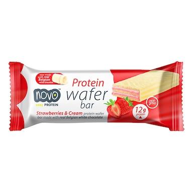 NOVO Protein Wafer Strawberry Cream Bar 40g