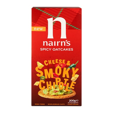 Nairn's Cheese & Smoky Chipotle Spicy Oatcakes 200g