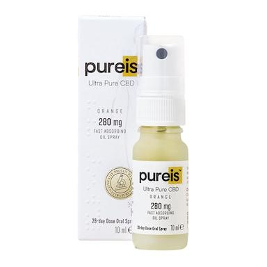 Pureis® Ultra Pure CBD Fast Absorbing Oil 280mg Orange Flavour Oral Spray 10ml