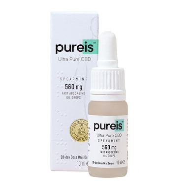 Pureis® Ultra Pure CBD Fast Absorbing Oil 560mg Spearmint Flavour Oral Drops 10ml