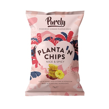 Purely Plantain Chips Nice & Spicy 75g