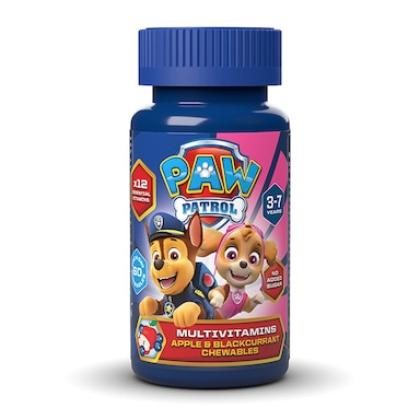 PAW Patrol Nickelodeon Multivitamins Apple & Blackcurrant 60 Chewables