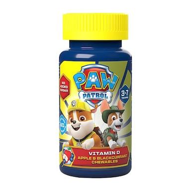 PAW Patrol Nickelodeon Vitamin D Apple & Blackcurrant 60 Chewables