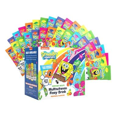 SpongeBob SquarePants Nickelodeon Multivitamin Fizzy Drink Tropical 30 Sachets