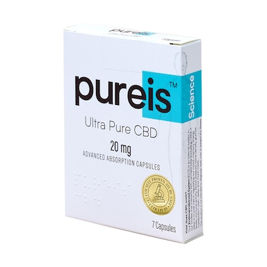Pureis® Ultra Pure CBD Advanced Absorption 20mg 7 Capsules