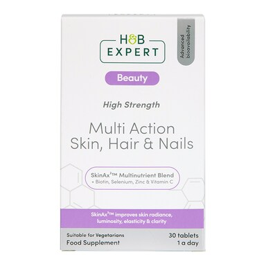 H&B Expert Multi Action Skin Hair and Nails 30 Tablets