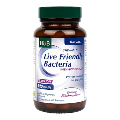 Holland & Barrett Chewable Acidophilus Blueberry (3 Billion) 120 Tablets