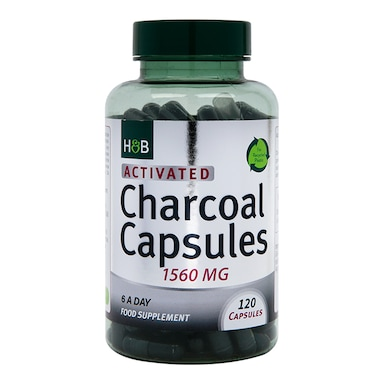 Holland & Barrett Activated Charcoal 1560mg 120 Capsules