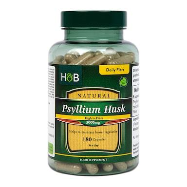Holland & Barrett Psyllium Husk 3000mg 180 Capsules