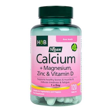 Holland & Barrett Vegan Calcium Magnesium & Zinc 120 Tablets