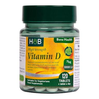 Holland & Barrett Vitamin D 75ug 120 Tablets