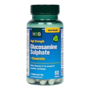 Holland & Barrett High Strength Glucosamine Sulphate & Chondroitin 1100mg 60 Tablets