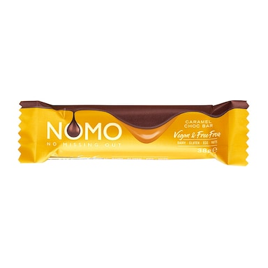 NOMO Vegan Caramel Filled Choc Bar 38g