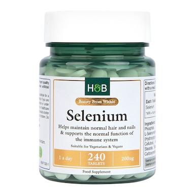 Holland & Barrett Selenium 200ug 240 Tablets
