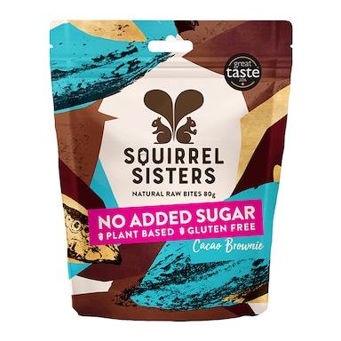 Squirrel Sisters Cacao Brownie Raw Brownie Bites 80g