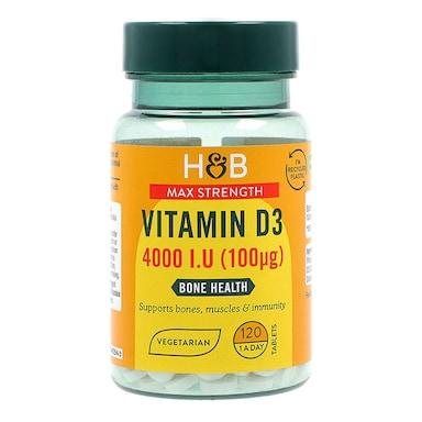Holland & Barrett Vitamin D 100ug 120 Tablets