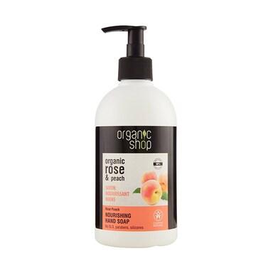 Organic Shop Nourishing Rose Peach Hand Soap 500ml