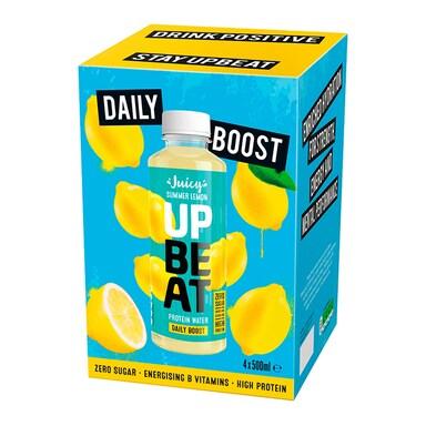 Upbeat Juicy Protein Water Summer Lemon 4 x 500ml