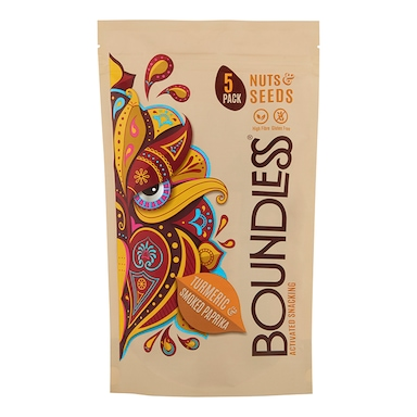 Boundless Turmeric & Smoked Paprika Activated Snacking Multipack 5 x 30g