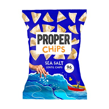 Properchips Sea Salt Lentil Chips Sharing Bag 85g