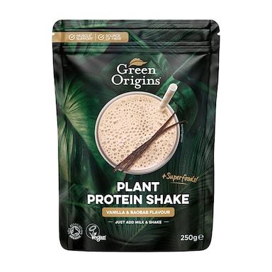 Green Origins Plant Protein Shake Vanilla & Baobab 250g