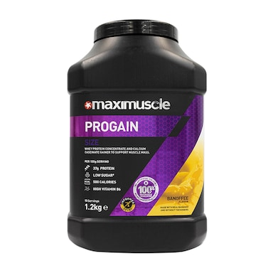 MaxiMuscle Progain Protein Powder Banoffee 1.2kg