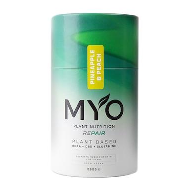 MYO Plant Nutrition Repair BCAA, CBD & Glutamine Pineapple & Peach 250g