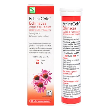 EchinaCold Echinacea Cold & Flu Relief Effervescent 20 Tablets
