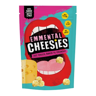 Cheesies Emmental Crunchy Popped Cheese 60g